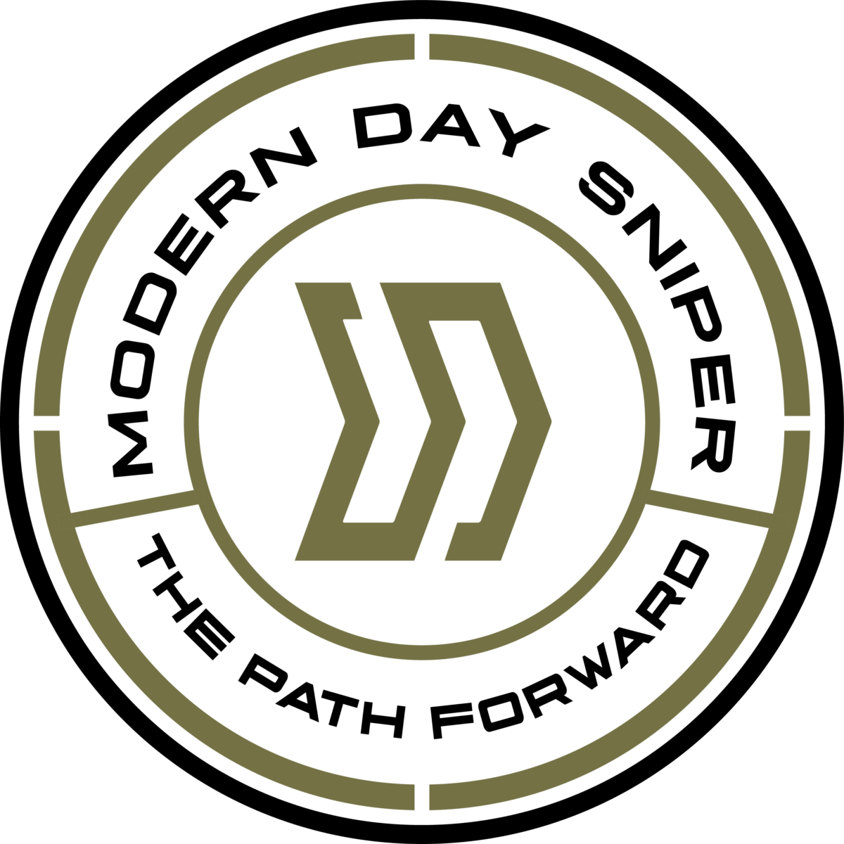 Circle Badge transparent - black